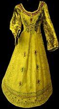 Gothique Robe Médiévale Velours Freyja vert ancien avec laçage 38 40 42 Neu
