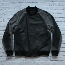 Wings & Horns Lamb Leather Wool Jacket Size L M