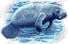 "Manatee Ocean Animal Salt Water Wildlife Car Bumper Vinyl Sticker Decal 5""X3.5"""