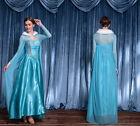 Ladies Frozen ELSA Cosplay Costume Halloween Hen Party Uniform Fancy Dress M-2XL