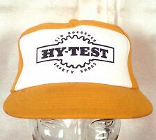 vtg 80s Hy-Test Safety Shoes Work Boots Insulated Trucker Hat Cap Snapback indie
