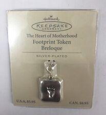 "Hallmark Keepsake Charm Ornament ""The Heart of Motherhood"" Footprint Token (NEW)"