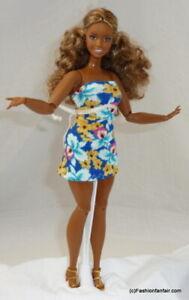 Tiny Floral Spring Handmade Dress for Barbie Vintage Curvy Fashionista