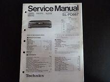 Original Service Manual Technics sl-pd667