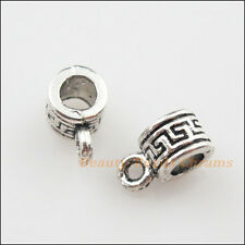 18Pcs Tibetan Silver Tiny Charms Bail Beads Fit Bracelet 6x10mm