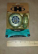 ( Pack Of 4 ) Vintage Hyper 118212 Clear Inline Superlite Hockey Wheels 72mm 82A