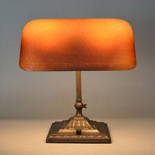 Emeralite No. 9, Amber Etched Lamp