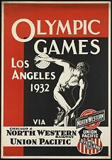 MAGNET Travel Poster Photo Magnet OLYMPIC GAMES 1932 Los Angeles Union Pacific