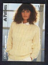 c7178985e c1980s Knitting Pattern  Patons 8546  Lace Rib Raglan Cardigan
