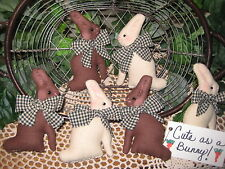 Set of 6 Country rabbits basket bowl fillers wreath-making Easter Home Decor
