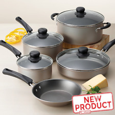 9 Piece Cookware Set Nonstick Pots & Pans Home Kitchen Cooking Non Stick NEW