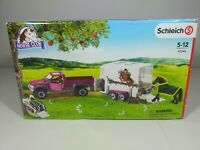 Schleich Horse Club Pick Up With Horse Box Play Set - 42346 - Open Damaged Box