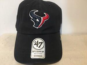 Houston Texans 47 Brand NFL Strapback Adjustable Cap Dad Hat Navy Clean Up New
