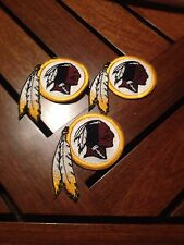 NFL Lot Of (3) Washington Redskins 2 1/2 X 3 Inch Iron On Patches