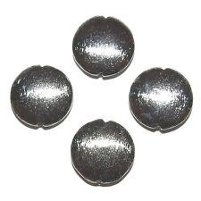 MB826f brüniert gebürstet strukturiert 20mm Puff rund Kupfer Metall Focal Perlen 4/pk