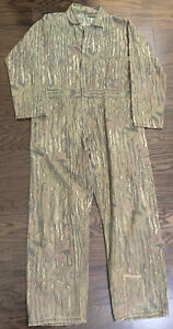 Vintage Camo Camouflage Hunting One Piece Suit Coveralls Mens Large Vtg RealTree