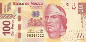 MEXIC0.2019,100 PESOS,SERIE,( BG,,) UNCIRCULATED,(B)