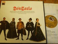 SLS 956 Verdi Don Carlo / Domingo / Giulini / ROHO etc. 4 LP box