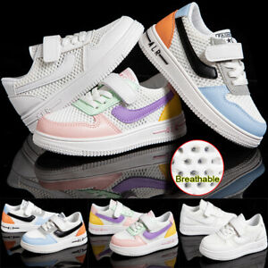 UK Kids Trainers Boys Girls Casual Breathable Sports Shoes School Sneakers Size