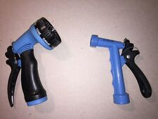 Garden Water Sprayer Hose Metal and Plastic Nozzle 7 Spray Settings - 2 Pack