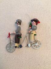 Vintage Christmas Tree Ornament Kurt Adler Tandem Bike Bicycle Man Lady Ride