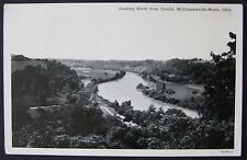 McConnelsville-Malta, Ohio OH River View Looking North from Douda Postcard