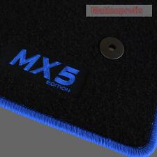 Mattenprofis Velours Fußmatten Logo blau für Mazda MX-5 MX5 ab Bj.11/2012 -