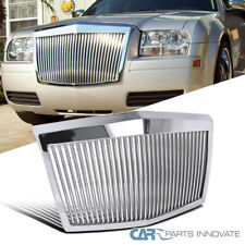 Fit 05-10 Chrysler 300 300C Chrome ABS Vertical Phantom Style Front Hood Grille