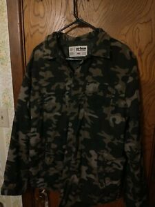Urban Pipeline Green Camouflaged Insulated Shirt Jacket Men's Size Large