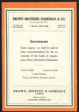 1931 Brown Brothers Harriman investments theme vintage print ad