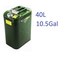 10Gal / 40L Steel HeavyDuty Fuel Gas Storage Tank Can Container for Jeep,ATV,UTV