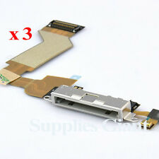 New Charging Port Dock Connector Flex Cable For iPhone 4S White US Lot 3