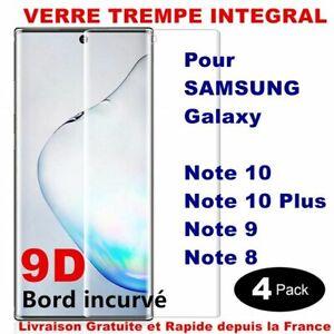 VERRE TREMPÉ TOTAL VITRE PROTECTION ÉCRAN 3D SAMSUNG NOTE 9/8 NOTE 10 PLUS 20