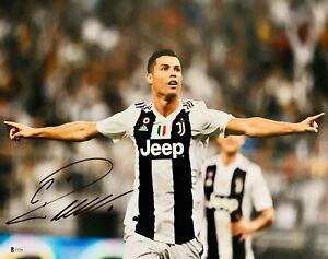 Cristiano Ronaldo Autographed Juventus 11x14 Photo Signed Arms Open BAS Beckett