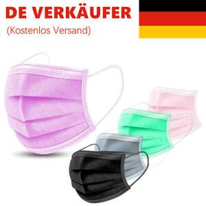 50 Stk Mundschutz Medizinische Einweg Schutzmaske  OP-Maske 3-lagig Atemschutz!!