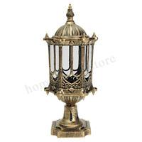 Outdoor Fixture Post Lantern Light Garden Lamp Yard Patio Pillar Candle