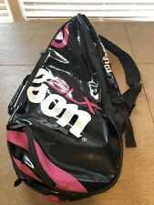 Wilson Blx 6 Racket Bag Black White And Pink Racquet Backpack