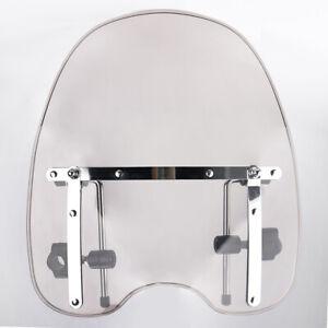 "Clear Motorcycle Windshield Windscreen For Yamaha Cruisers w/ Hardware 18"" x 16"""