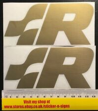 2x VW Racing  Logo Gold Sticker, Sill, Side Skirt, Polo GTI Volkswagen R32 Lupo