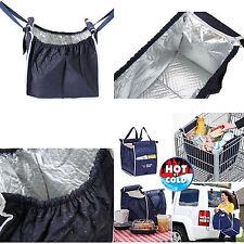 New Insulated GRAB BAG Clip to Cart SHOPPING BAG Reusable Bag