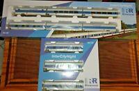 RIVAROSSI InterCityNight DB AG livrea bianco/blu/celeste composto da 9 carrozze,