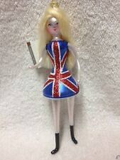 Brand New De Carlini Italian Italy Lady BRITISH Mod Girl Blown Glass Ornament