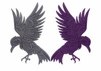 Embroidered Gothic Raven Motif/Patch/Badge/Applique-Lots of Colour Choices