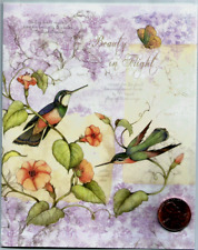 Susan Winget Hummingbirds Flowers Beautiful - Small Blank Greeting Note Card New