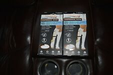 (2) Copper Fit Energy Compression Socks Easy On & Off, Men 5-9 Women 6-10 NEW