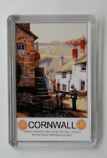 CORNWALL FRIDGE MAGNET- Old Travel Railway Poster FREE Postage