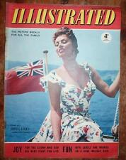 ILLUSTRATED MAGAZINE 4TH AUG 1956 SOPHIA LOREN FRONT COVER