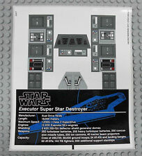 LEGO Star Wars 10221 Super Star Destroyer - AUFKLEBER / STICKER Decals Stickers