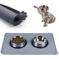 Eg _ Chat Alimentation Chien Chiot Animal Domestique Place Tapis Silicone Plat