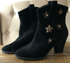 Anna Sui X Inc Women's Leather Star Bootie Size 8
